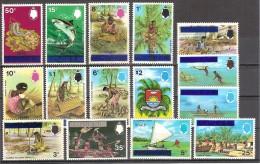 ** 1976 TUVALU OVERPRINT YVERT 4/18 CAT. € 52.80 - Tuvalu