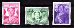 Tonga, 1950, SG 92 - 94, Complete Set, MNH - Tonga (...-1970)
