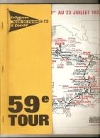 TOUR DE FRANCE  1972 - Road Book 110 Pages - Format 28  X 23  . ( + Port ) - Cycling