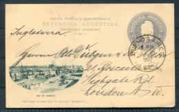 1900 Argentina Buenos Aires Boca Del Riachuelo Hafen Stationery Postcard - London, GB - Interi Postali