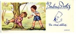 BUVARD  ENFANTS  ILLUSTRATION DANS LE GOUT DE GERMAINE BOURRET  -   BONBONS DOLYS - Kids