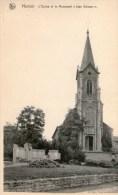 HAMOIR   L'EGLISE  ET  LE  MONUMENT  J.  DELCOUR - Hamoir