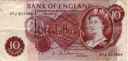 Bank Of England : 10 Shillings (1962-66) : QEII - 1952-… : Elizabeth II
