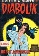 DIABOLIK N°30 ORE D´ANGOSCIA - Diabolik