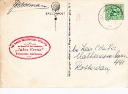 Hague Ballon Club Hiolland, Jules Verne - Marcophilie (Lettres)