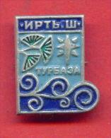 F916 / Chernoluchye - Omsk Region.-  Irtysh Campsite -  Kazakhstan Kasachstan - Russia Russie - Badge Pin - Alpinism, Mountaineering