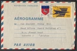 FRANCE Postal Used Stationery 1.40 Aerogramme 22.7.1977 - Postal Stamped Stationery