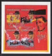 Niger MNH Scott #923 Sheet Of 4 Different 375fr Michael Schumacher World Driving Champion - Niger (1960-...)