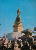 Swoyambhunath Stupa, Nepal Postcard Used Posted To UK 1975 - Nepal