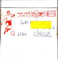 """ITALIA  1989 -  Raccomandata  Con Immagine Sportiva  """"calcio"""" - Calcio"""