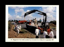 36 - LA CHATRE - Circuit De La Châtre - Accident De Voiture De Course - 1987 - La Chatre