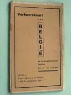 Verkeerskaart Belgie Get. Cartografisch Instituut PATESSON Brussel - 1/320.000 ( Oudere 2de Hands Kaart ) ! - Europe