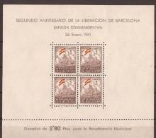 ESBCN29-L3684TESSC.España .Spain.Espagne.LIBERACION   DE BARCELONA.1941.(Ed 29**) Sin Charnela .MAGNIFICA - Escudos De Armas