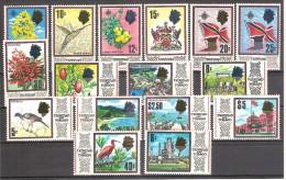 ** 1969 TRINIDAD & TOBAGO DEF. SET ELISABETTA II YVERT 231/246 MNH - Trindad & Tobago (1962-...)