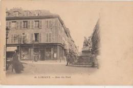 CPA 56 LORIENT Rue Du Port Commerce Librairie 1904 - Lorient