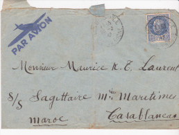 Marseille - Casablanca Par Avion 1949 - Marcophilie (Lettres)