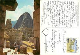 Macchu Picchu, Peru Postcard Used Posted To UK 1976 Nice Stamp - Peru