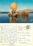 Puno Oros Rushboat, Lake Titicaca, Peru Postcard Used Posted To UK 1973 Meter - Peru