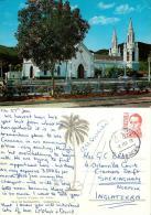 Virgen Del Valle Church, Isla De Margarita, Venezuela Postcard Used Posted To UK 1978 Nice Stamp - Venezuela