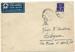 1938 POSTA AEREA CON TIMBRO UFFICIO POSTALE SPECIALE 5 - 1900-44 Vittorio Emanuele III