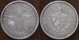 (J) CUBA: Silver Peso 1934 XF+ (681) - Kuba