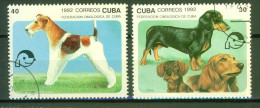 Chiens De Race  - CUBA - Fox Terrier, Teckel - N° 3193-3195 - 1992 - Oblitérés