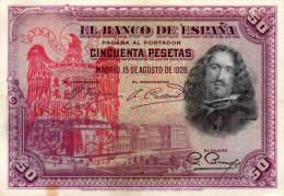 ESPAGNE : Guerre Civile. 50 Psts Surchargé Burgos (vf+) - 50 Pesetas