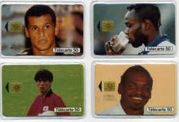 Lot 4 Télécartes Utilisées  1998 Bernard Lama; Taribo West; Rivaldo; Muyng-Bo Hong  (lot 13) - Télécartes