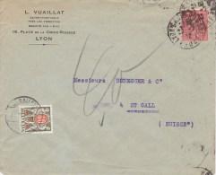 RF;   Lettre Pour Suisse Timbre Taxe 1932 - France