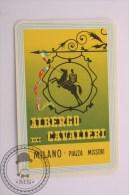 Hotel Albergo Cavalieri Mílano, Italy - Original Vintage Luggage Label - Sticker - Etiquetas De Hotel