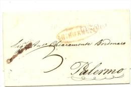 Italia. Prefilatelia. Carta Con La Marca GIRGENTE  En Ovalo - Italia
