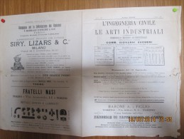 1902  L'INGEGNERIA CIVILE E LE ARTI INDUSTRIALI  - RARO PERIODICO TECNICO COMPLETO - Posters