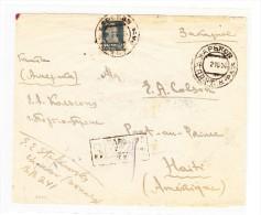 Russland - 1924 R-Brief Aus KHARKOV Nach HAITI - Rückseitig Tauschkontrollmarke 1 K Auf 1R + 5K Auf 5R - Seltene Destin - Covers & Documents