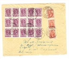 Russland - 1923 Brief Mit 70 R. Im 15-er Block Nach Berlin - 1917-1923 République & République Soviétique
