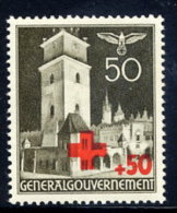 GENERAL GOVERNMENT 1940 Red Cross 50+50 Gr. MNH / **.  Michel 54 - 1939-44: World War Two