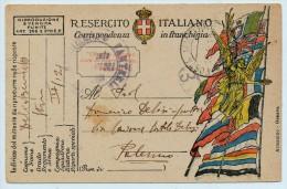 1915 POSTA MILITARE  INDIRIZZATA ALLO SCULTORE DE LISI DI PALERMO - 1900-44 Vittorio Emanuele III
