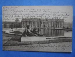 78-VERSAILLES Chateau , Façade , Coté De La Terrasse , 2 Scans - Châteaux