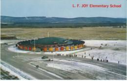 Fairbanks Alaska, L.F. Joy Elementary School Building, Colorful Architecture, C1950s/60s Vintage Postcard - Fairbanks
