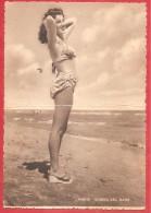 CARTOLINA VG ITALIA - RIMINI - Sirena Del Mare - Spiaggia - Bikini - 10 X 15 - TASSATA - ANNULLO MIRAMARE DI RIMINI 1948 - Pin-Ups