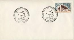 FDC 1965  # MAISON CULTURE ET JEUNESSE  LE CORBUSIER #  FIRMINY # LOIRE  # FOREZ #  # Architecture - Cachets Commémoratifs