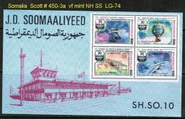 SOMALIA    Scott  # 450-3a**  VF MINT NH  SHEET Of 4 - Somalia (1960-...)