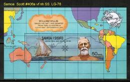 SAMOA    Scott  # 406a**  VF MINT NH  SHEET Of 1 - Samoa