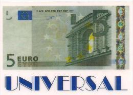 TARJETA UNIVERSAL BILLETE 5 EUROS - Tarjetas Telefónicas