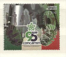 MEXIQUE.Anniversaire De La Confédération Des Chambres Industrielles Mexicaines. (Engrenages) 1 T-p Neuf ** Année 2013 - Fabbriche E Imprese