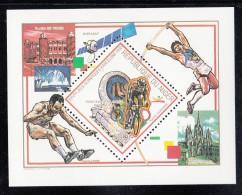 Niger MNH Scott #818F Souvenir Sheet 600fr Cycling - 1992 Summer Olympics Barcelona - Niger (1960-...)