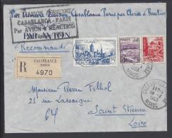 MAROC - 1953 -  PREMIERE LIAISON CASABLANCA-PARIS PAR AVION A REACTION - - Maroc (1891-1956)