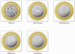 Lithuania 2 Litai 2012 UNC / BU 4 Coins Set < Bi-metallic Bimetall > - Lithuania