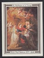 Niger MH Scott #431 Souvenir Sheet 500fr Virgin And St Ildefonso - Peter Paul Rubens 400th Birth Anniversary - Niger (1960-...)