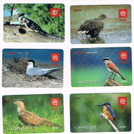 SLOVENIA (SLOVENIJA, SLOVENIJE) - GSM RECHARGE MOBITEL - BIRDS: LOT OF 6 DIFFERENT - USATA (USED)  -  RIF. 3151 - Slovenia