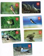 SLOVENIA (SLOVENIJA, SLOVENIJE) - GSM RECHARGE MOBITEL - BIRDS: LOT OF 7 DIFFERENT - USATA (USED)  -  RIF. 3153 - Slovenia